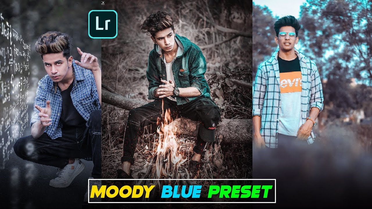 5 83 MB] Lightroom Moody Blue Retouching || Lightroom