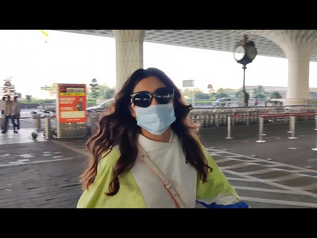 Aastha Gill Spotted At Airport