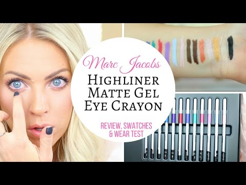 Marc Jacobs Highliner Matte Gel Eye Crayon | Swatches, Review & Wear Test