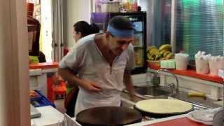 Crazy Pancake Maker! Majorca Spain