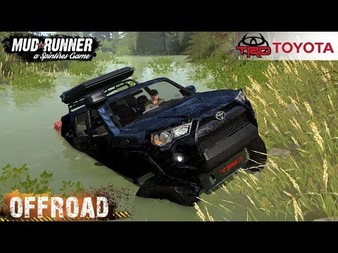 Spintires: MudRunner - 2020 TOYOTA 4RUNNER TRD Driving Through The Swamp And Mud
