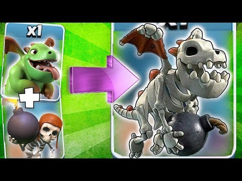 BABY DRAGON + BOMBER = SKELETON DRAGON!! | Clash of clans | TROOP CONCEPT!!