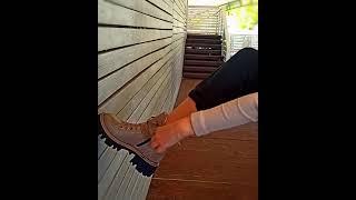 Стильные женские ботинки из натуральной кожи коричневые модные ботинки женские на меху байке