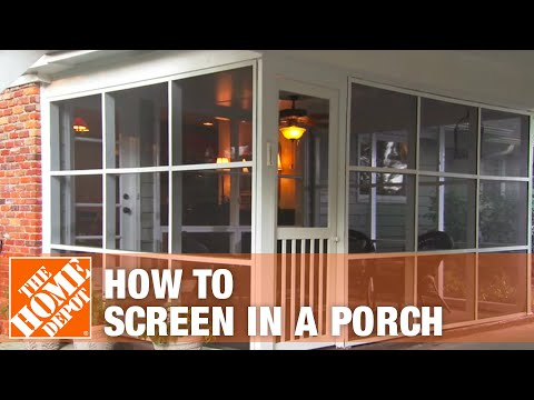 How To Screen In A Porch Installing A Screen Tight Porch System The Home Depot Youtube
