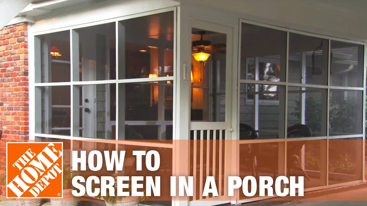 How to screen in a porch installing a screen tight porch for Porch screen panels home depot