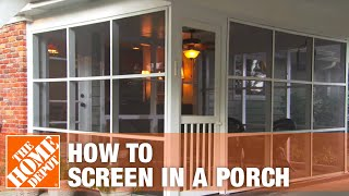 How To Install The Screen Tight Porch Screen System For Your Porch, Patio Or Sunroom - The Home Depo