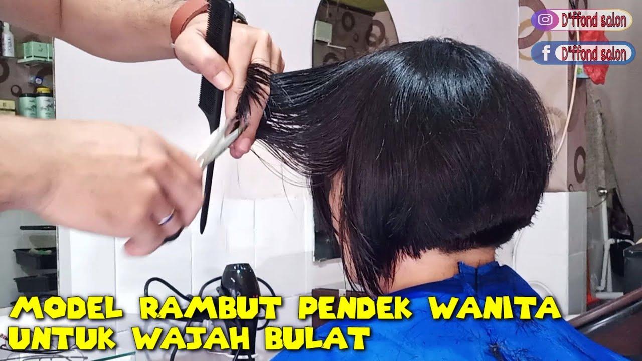 Model Rambut Pendek Wanita Yang Berwajah Bulat Tutorial Youtube