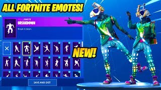 """DJ Yonder"" SKIN SHOWCASE CON 80 FORTNITE DANCES & EMOTES..!!"