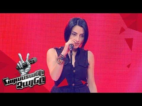 Asya Simonyan sings 'Ариведерчи' - Blind Auditions - The Voice of Armenia - Season 4