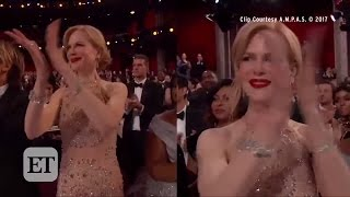 Nicole Kidman Stuns In 119 Carats Of Jewels At Oscars -- But Her Clapping Confuses!