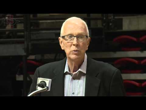 "SDSU ATHLETICS: SDSU DEDICATES ""STEVE FISHER COURT"" - 10/29/15"