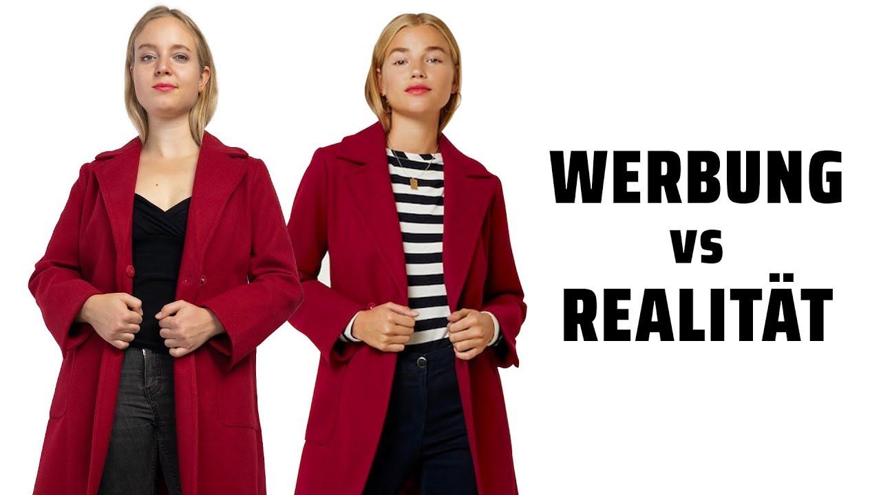 Werbung vs Realität Mäntel für kleine Frauen!