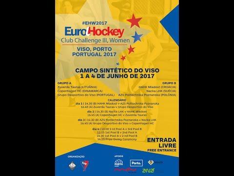 8th MATCH: AZS Politechnika Poznanska vs Copenhagen HC - EuroHockey Club Challenge III Women - PORTO