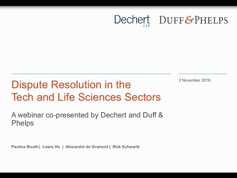 Dispute Resolution in the Tech and Life Sciences Sectors