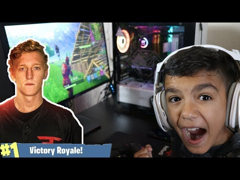My 10 Year Old Little Brother Plays Like FaZe Tfue On Fortnite!