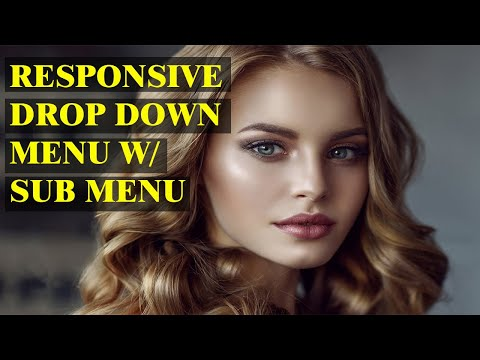 Responsive Drop Down Menu W/ Sub Menu | Html And Css Tutorial