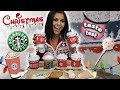 TRYING STARBUCKS HOLIDAY DRINKS & TREATS!!