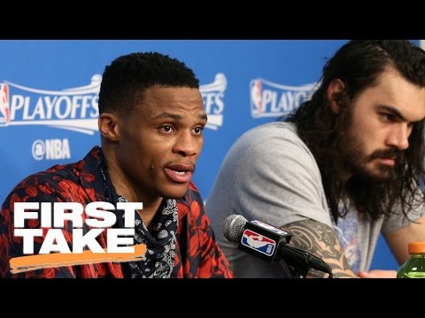 Stephen A. Sides With Reporter Over Russell Westbrook   First Take   April 24, 2017