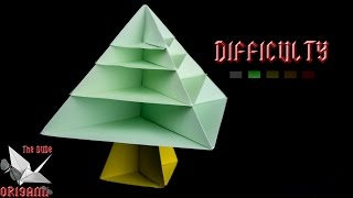 [origami Tutorial] Christmas Tree || Christmas/easy