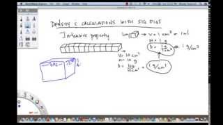 Calculating density with sig figs