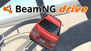 BeamNG drive - Super Jumps and Sky Curve! - BeamNG drive Scenario Gameplay