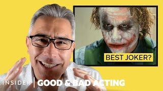 Pro Acting Coach Breaks Down 12 Batman Villain Performances | Good & Bad Acting