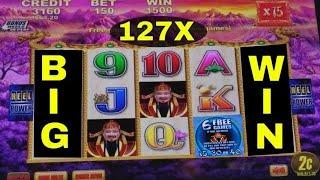 Fortune King Deluxe Slot Machine Bonus ★BIG WIN★ ! Live Slot Play 127x BIG WIN