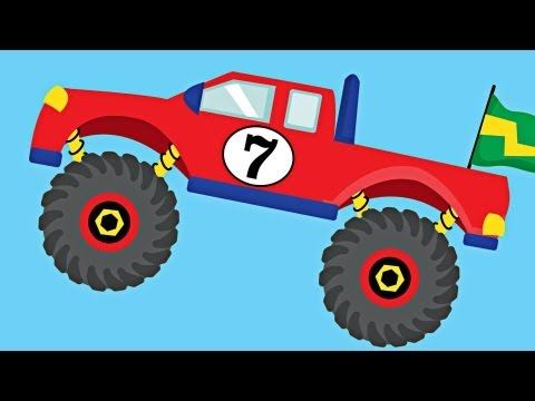Monster Trucks Teaching Numbers 1 to 10 - Number Counting for Kids