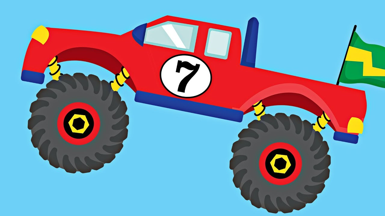 monster trucks teaching numbers 1 to 10 number counting for kids youtube. Black Bedroom Furniture Sets. Home Design Ideas