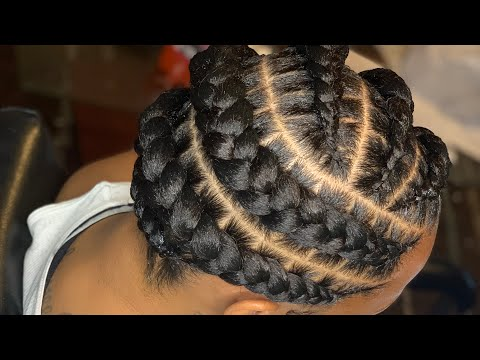 How to do stitch braids with rubber bands  EZ BRAID HAIR