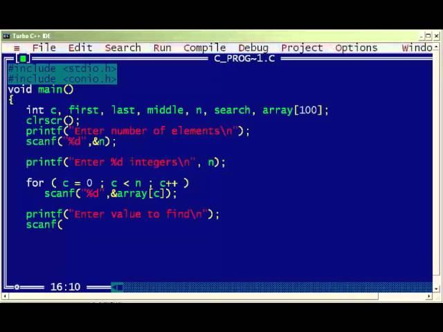 write a c program for binary search using recursion