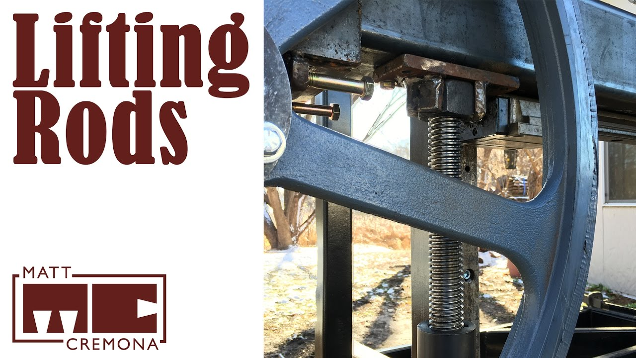 Saw Head Lift Rods - Building a Large Bandsaw Mill - Part 12