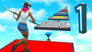 Playing a ONE Level DEATHRUN (No Checkpoints) in Fortnite Creative