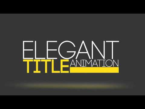 23 Elegant Title Animation | After Effects Template | VideHive Project