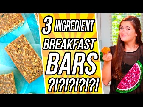 3 Ingredient Breakfast Bar?! | 3 Items Or Less w/ CloeCouture!