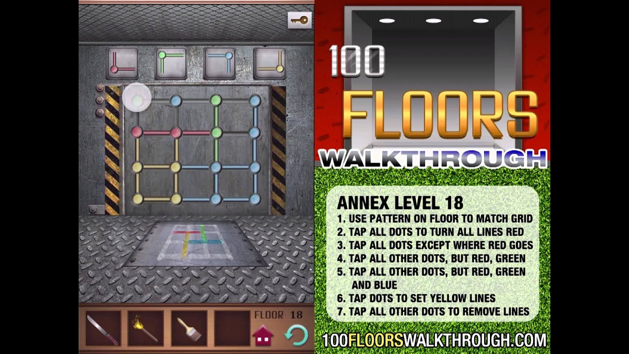 100 Floors Walkthrough Annex Floor 18 Walkthrough 100