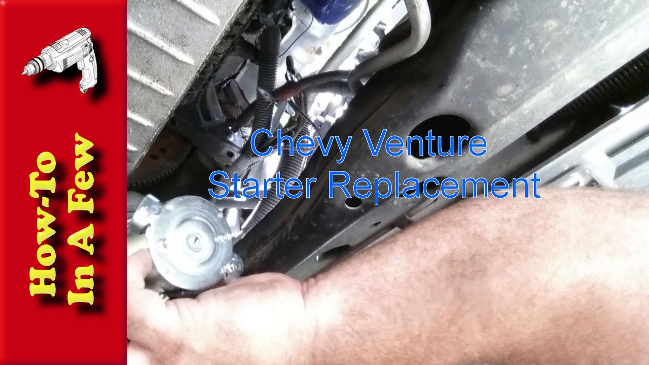 how to change your chevy venture starter youtube rh youtube com