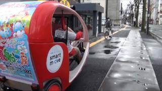 福島市初登場ベロタクシー