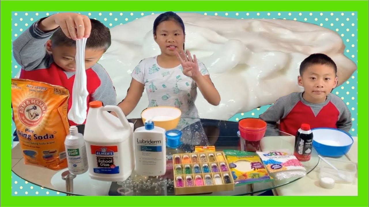 Fluffy Slime With Shaving Cream Glue And Contact Solution Part 1