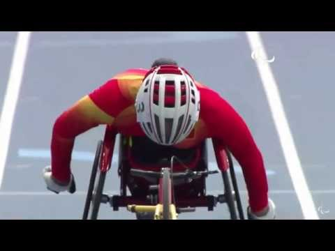 Jessica Lewis In 400m Heats at Paralympic Games, Sept 10 2016