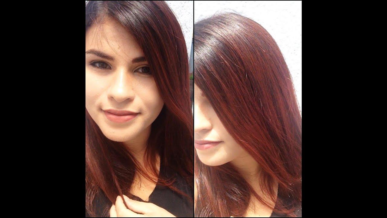 Super Do castanho ao vermelho/pintando o cabelo em casa - YouTube TU08