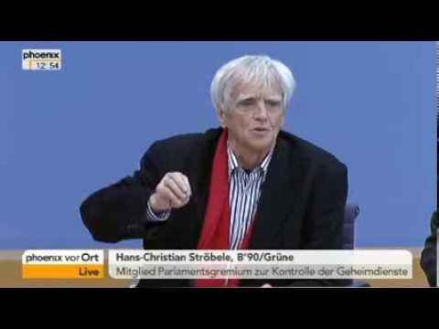 Bundespressekonferenz - Christain Ströbele zum Treffen mit Edward Snowden - 01.11.2013