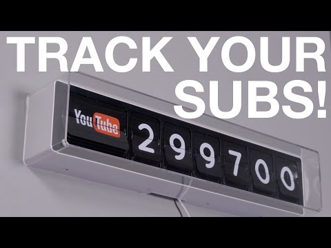 Retro-style YouTube Subscriber Clock!