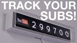 Retro-style YouTube Subscriber Clock!