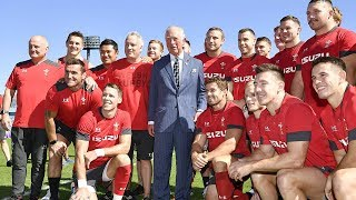'Wales will make us proud', says Prince Charles after visiting Rugby World Cup semi-finalists