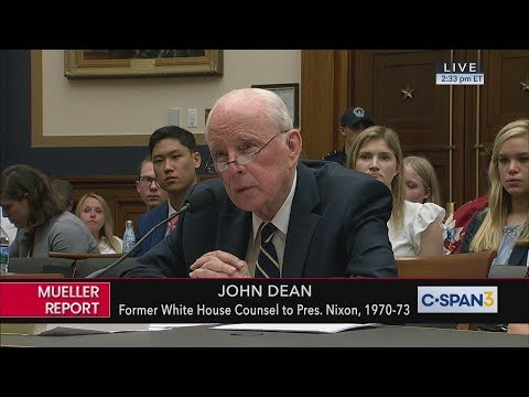 John Dean Opening Statement Before House Judiciary Committee
