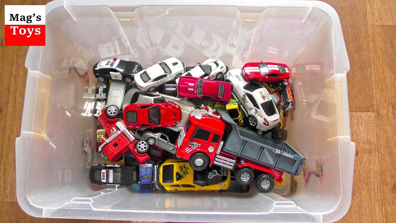 Box Full Of Cars: A Lot Of Toy Cars For Kids From The Box