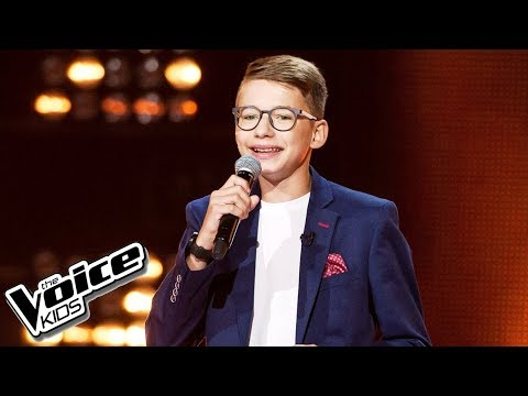 "Tomasz Kolbusz - ""Marry You"" - Przesłuchania w ciemno - The Voice Kids Poland 2"