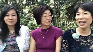 大宮氷川神社で小黒佐和子さん、加藤あいさんとで3人の出会いを語る 加藤あい 動画 25
