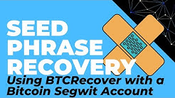 Using BTCRecover with Segwit Bitcoin Addresses (Seed Phrase Recovery For Ledger, Trezor, Coinomi)